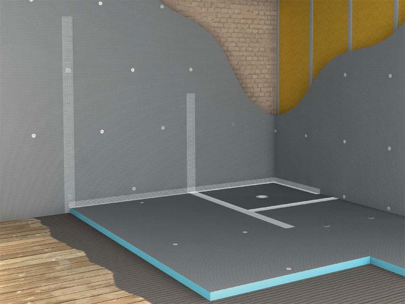 Pannelli wedi in polistirene per ristrutturazione interni for Salle de bain wedi