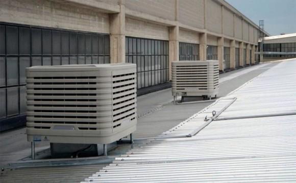 raffrescamento per capannoni industriali